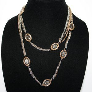"40"" silver and gold LOFT necklace"